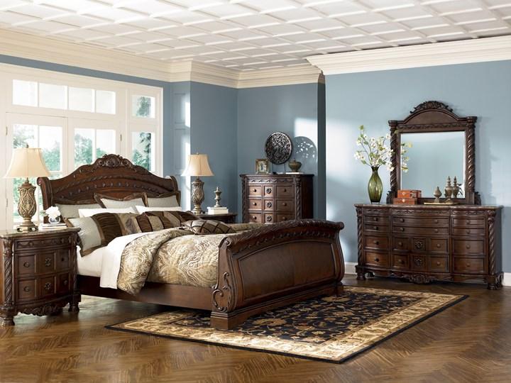 Sypialnia amerykańska komplet - B553 Kategoria Zestawy mebli do sypialni Kolor Brązowy