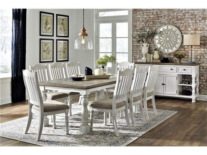 Amerykańska jadalnia D814 - stół z krzesłami Kolor Biały