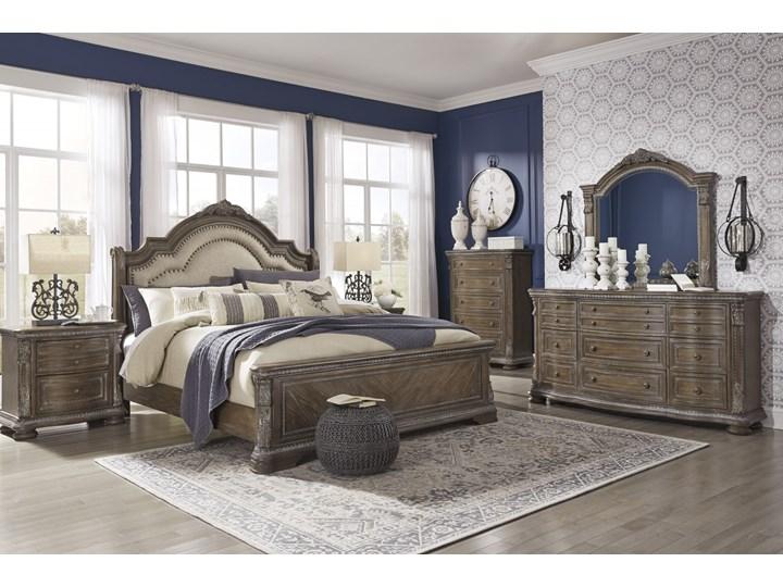 Sypialnia amerykańska komplet - B803 Kategoria Zestawy mebli do sypialni Kolor Szary