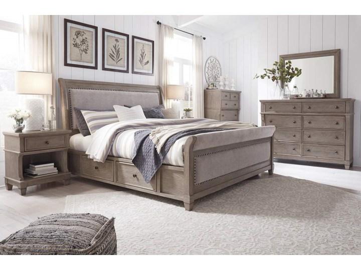 Sypialnia amerykańska komplet - B804 CHALLENE Kategoria Zestawy mebli do sypialni Kolor Szary