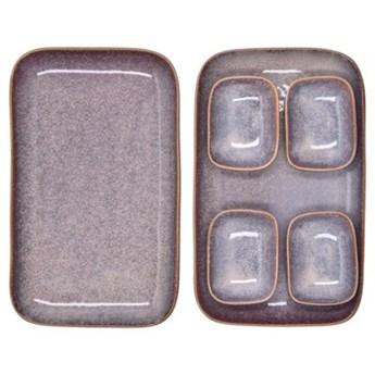 Zestaw do sushi dla 2 osób DUKA THORA 6 elementów fioletowy kamionka