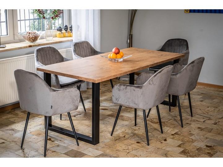 Stół do jadalni rozkładany FIORD 140/240x90 Dąb Tworzywo sztuczne Szerokość 90 cm Wysokość 90 cm Pomieszczenie Stoły do kuchni Długość 240 cm Wysokość 75 cm Drewno Metal Pomieszczenie Stoły do jadalni