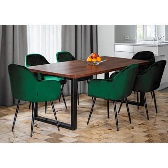 Rozkładany stół jadalniany FIORD / Ciemny orzech