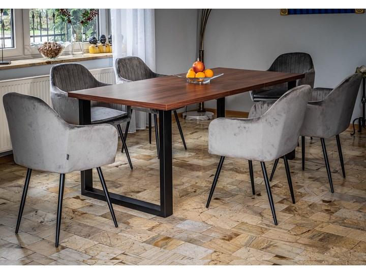 Rozkładany stół jadalniany FIORD / Ciemny orzech Metal Szerokość 90 cm Wysokość 75 cm Drewno Styl Nowoczesny
