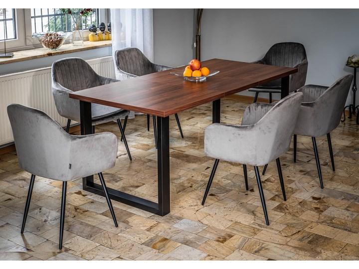 Rozkładany stół jadalniany FIORD / Ciemny orzech Szerokość 90 cm Wysokość 75 cm Rozkładanie Metal Drewno Pomieszczenie Stoły do kuchni