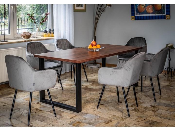 Rozkładany stół jadalniany FIORD / Ciemny orzech Metal Pomieszczenie Stoły do kuchni Szerokość 90 cm Drewno Wysokość 75 cm Pomieszczenie Stoły do jadalni