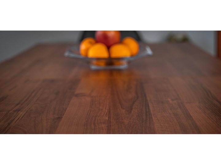 Rozkładany stół jadalniany FIORD / Ciemny orzech Drewno Wysokość 75 cm Metal Szerokość 90 cm Styl Nowoczesny