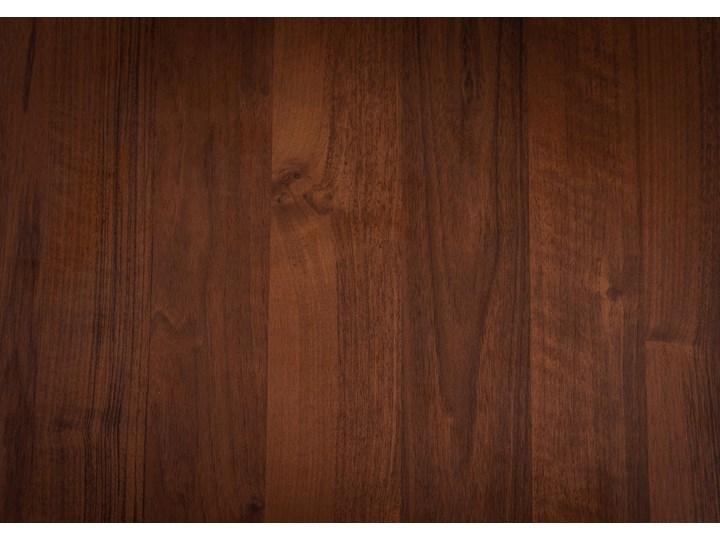 Rozkładany stół jadalniany FIORD / Ciemny orzech Szerokość 90 cm Metal Wysokość 75 cm Drewno Pomieszczenie Stoły do salonu