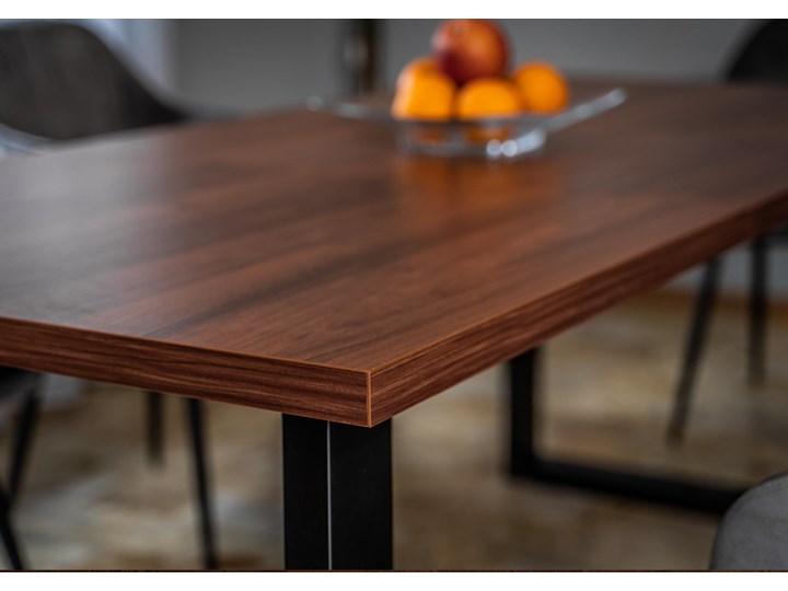 Rozkładany stół jadalniany FIORD / Ciemny orzech Szerokość 90 cm Styl Skandynawski Drewno Metal Wysokość 75 cm Rozkładanie
