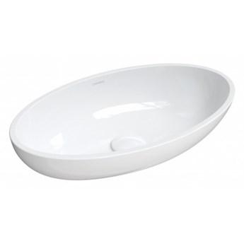 Umywalka Crete, nablatowa, biały, połysk, CreteBP