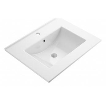 Orlando umywalka meblowa prostokątna 61x47 cm biały połysk ORLANDO600BP
