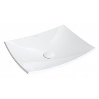 Umywalka Ibiza, nablatowa, bez przelewu, 50x40 cm, biały, połysk, IBIZABP