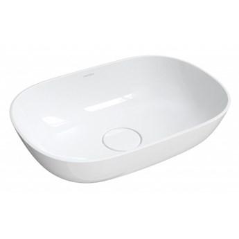 Umywalka Silk, 50x35 cm, nablatowa, biały, połysk, SILK500BP