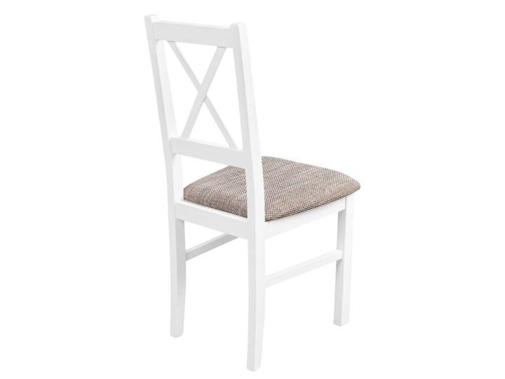 Zestaw do Kuchni Jadalni Stół 110x60 Szerokość 60 cm Wysokość 48 cm Długość 110 cm  Drewno Płyta MDF Wysokość 76 cm Długość 40 cm  Tworzywo sztuczne Kolor Biały