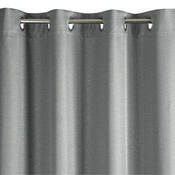 Lekka Zasłono Kira 140x250cm - Srebrny/Złoty - Przelotki