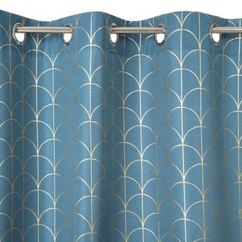 Zasłona Cande 140x250cm - Niebieski - Przelotki