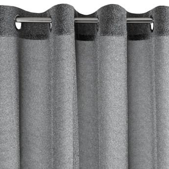 Półjrzysta Zasłona Shiny 140x250cm - Czarny/Srebrny - Przelotki