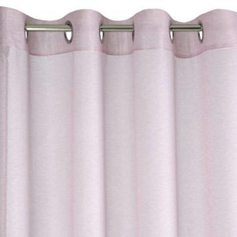 Zasłona Arlona 140x250cm - Różowy - Przelotki