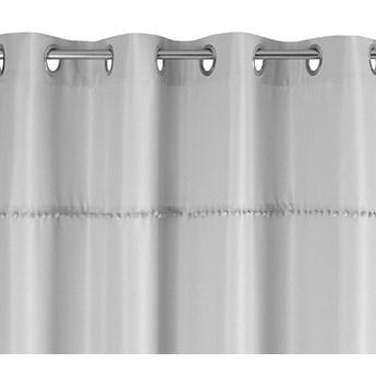 Zasłona Defne 135x260cm - Srebrny - Przelotki