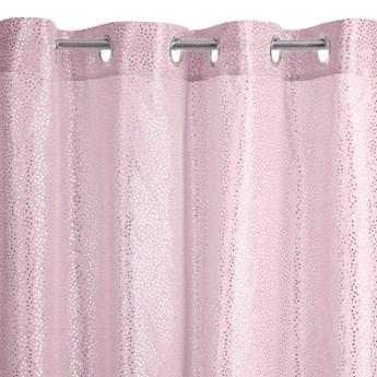 Zasłona Lauren 140x250cm - Różowy/Srebrny - Przelotki