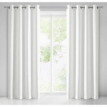 Zasłona Gotowa Matowa Adore 140x250cm - Biały - Przelotki