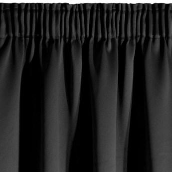 Zasłona z Tkaniny Zaciemniającej Parisa 135x270cm - Czarny - Taśma