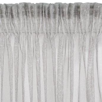 Firana Raja 140x270cm - Srebrny - Taśma