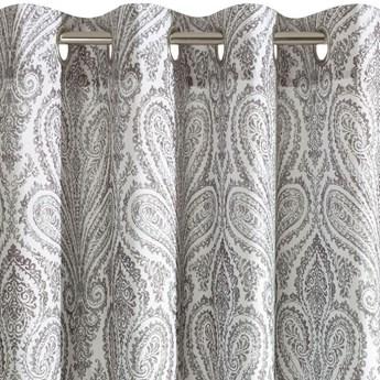 Zasłona Gotowa Almina 140x250cm - Biały/Stalowy - Przelotki
