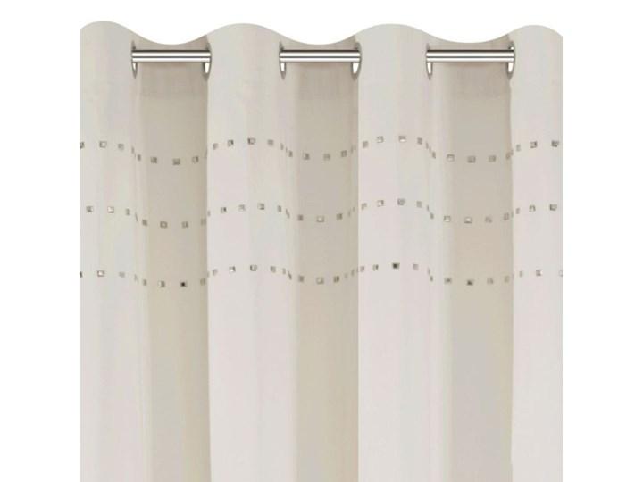 Zasłona Cristal 140x250cm - Beżowy - Przelotki Wzór Gładkie Bawełna 140x250 cm Pomieszczenie Salon