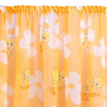 Zasłona Gotowa Tweety 350x160cm - Pomarańczowy - Taśma