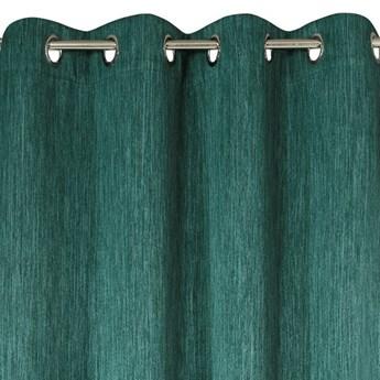 Zasłona Zaciemniająca Rossie 135x250cm - Ciemny Zielony - Przelotki