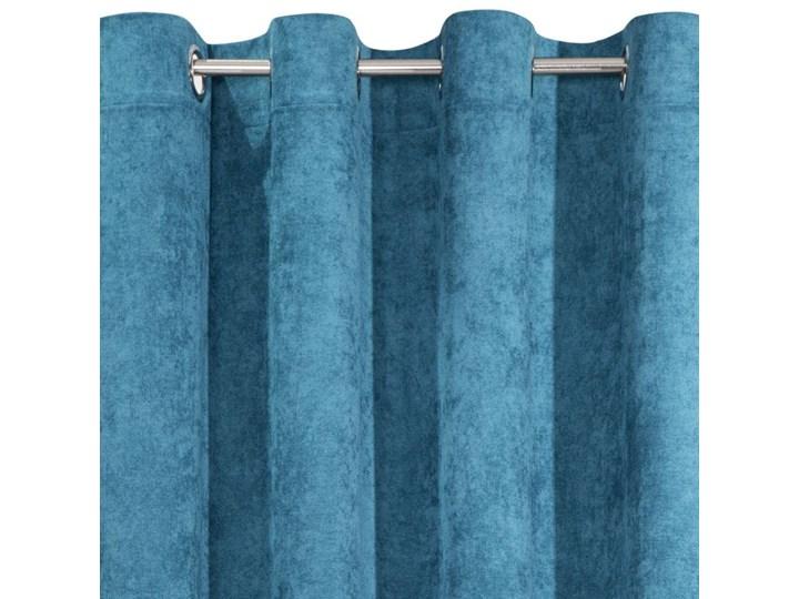 Jednokolorowa Zasłona Anisa 140x250cm - Ciemny Niebieski - Przelotki