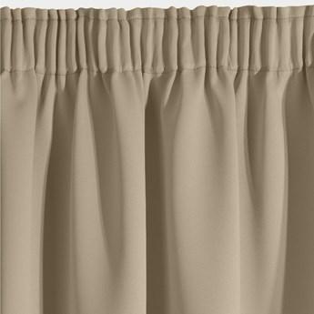 Elegancka Zasłona Logan 135x270cm - Beżowy - Taśma