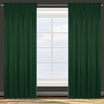 Zasłona z Tkaniny Zaciemniającej Parisa 135x270cm - Ciemny Zielony - Taśma