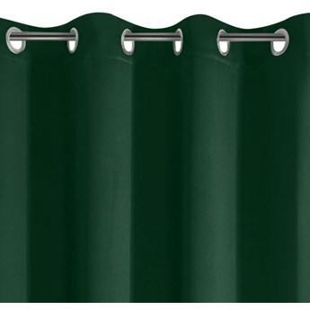 Zasłona z Tkaniny Zaciemniającej Parisa 135x250cm - Ciemny Zielony - Przelotki