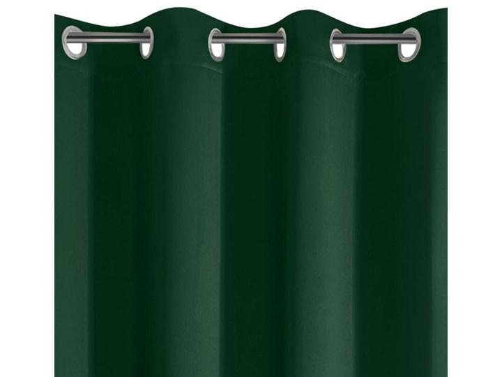 Zasłona z Tkaniny Zaciemniającej Parisa 135x250cm - Ciemny Zielony - Przelotki Zasłona zaciemniająca 135x250 cm Poliester Mocowanie Kółka