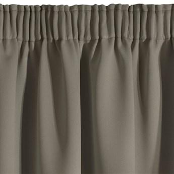 Zasłona z Tkaniny Zaciemniającej Parisa 135x270cm - Cappuccino - Taśma