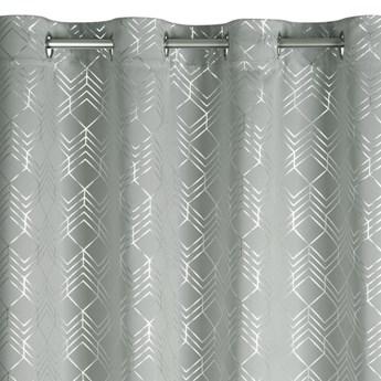 Gotowa Zasłona Poli 140x250cm - Srebrny - Przelotki