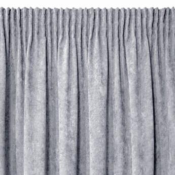 Jednokolorowa Zasłona Anisa 140x270cm - Srebrny - Taśma