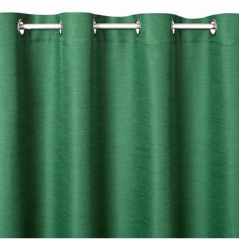 Prosta Zasłona Style 140x250cm - Ciemny Zielony - Przelotki