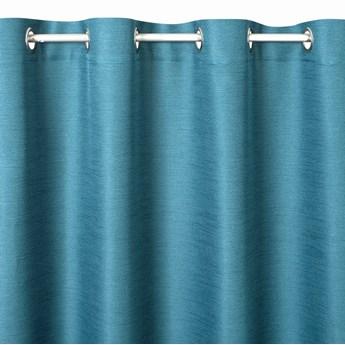 Prosta Zasłona Style 140x250cm - Niebieski - Przelotki