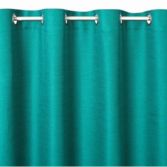 Prosta Zasłona Style 140x250cm - Zielony - Przelotki