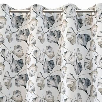 Zasłona Aida 140x250cm - Biały/Srebrny - Przelotki