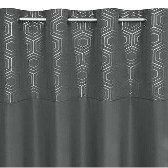 Zasłona Gotowa Dafne 140x250cm - Grafitowy/Złoty - Przelotki
