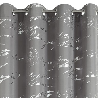 Zasłona Cecily 140x250cm - Stalowy/Srebrny - Przelotki