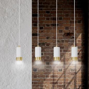 FUMIKO 4 WHITE-GOLD 815/4 designerski spot wiszący białe tuby złote dodatki