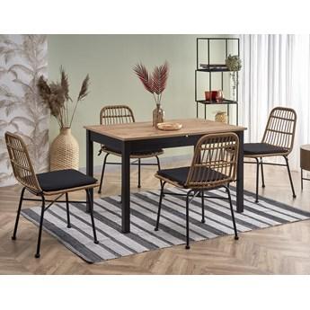Industrialny stół rozkładany czarny/wotan kuchenny