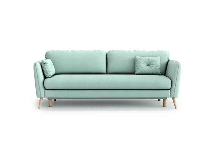 Sofa Clara z funkcją spania, Aquamarine Mint Typ Gładkie