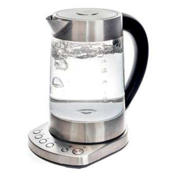 Czajnik elektryczny z regulacją temperatury DUKA BOJE 1700 ml srebrny szkło