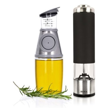 Zestaw młynek do soli lub pieprzu i butelka na oliwę DUKA SPICE OLLI